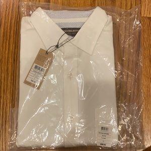 Johnston & Murphy white oxford shirt.